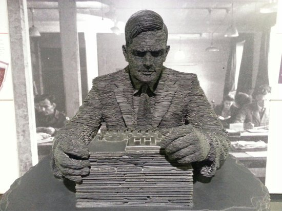 Bletchley Park: Statue of Alan Turing