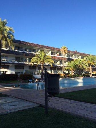 Hotel Jerez & Spa : piscina al atardecer