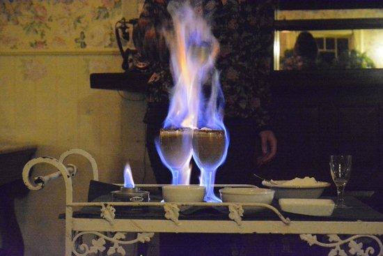 The 1661 Inn: Flaming Coffee!