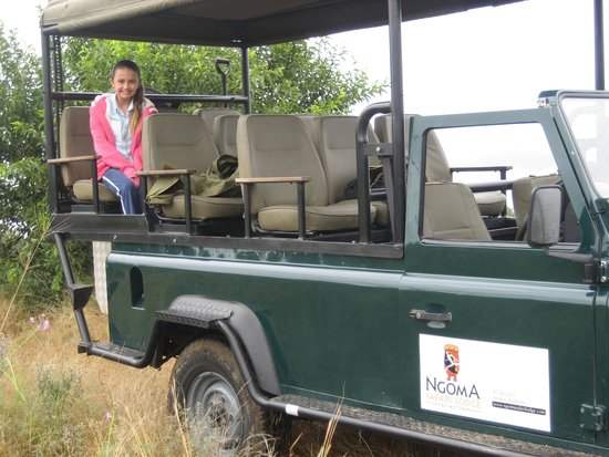 Ngoma Safari Lodge: Safari jeep