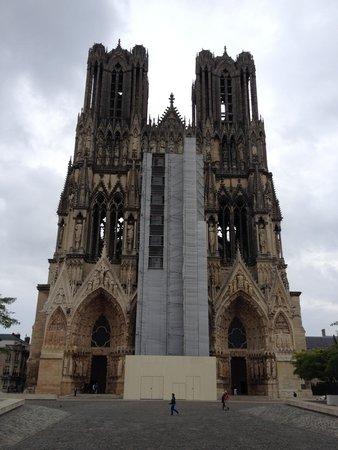 Cathedrale Notre-Dame de Reims: Facade in Construction