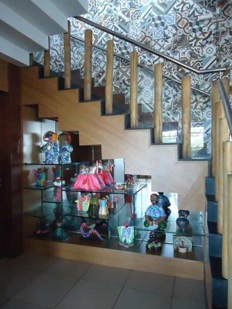 Cabana do Sol: Escada de acesso do Bar ao Restaurante