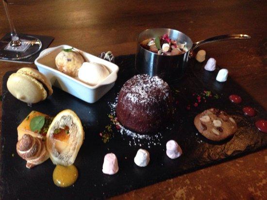 Restaurant at Shibden Mill Inn: Sharing dessert - amazing!