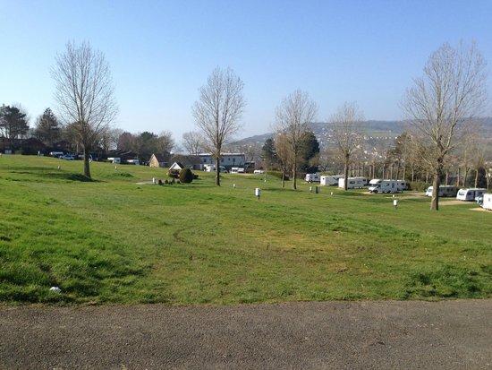 Newlands Holiday Park: Touring caravan field