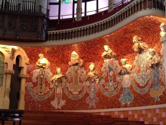 Palais de la Musique Catalane (Palau de la Musica Catalana) : Deusas da música!