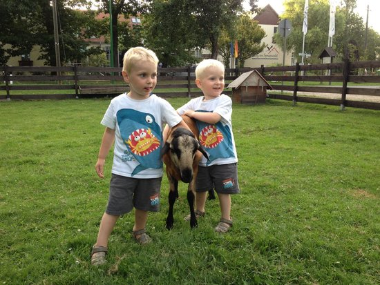 Landhotel Burg im Spreewald: The Twins with their best friend (-: