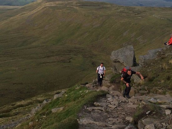 Pen-y-ghent: The last climb up Ingleborogubh