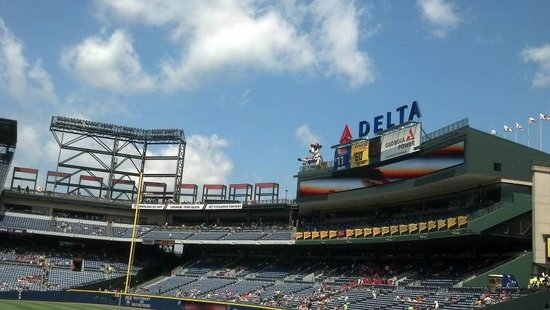 Turner Field: Upper Level - lots of things for the kids to do!