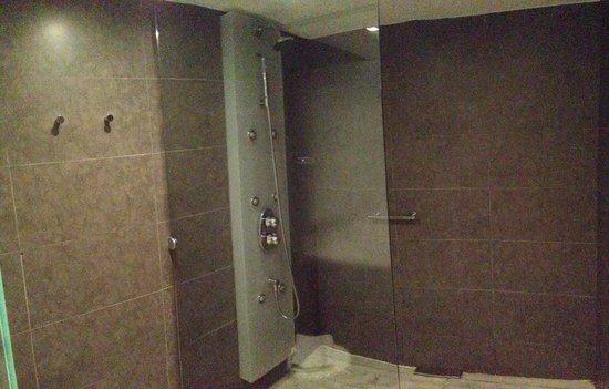 Magnolia Hotel: Chambre 405 - grande douche