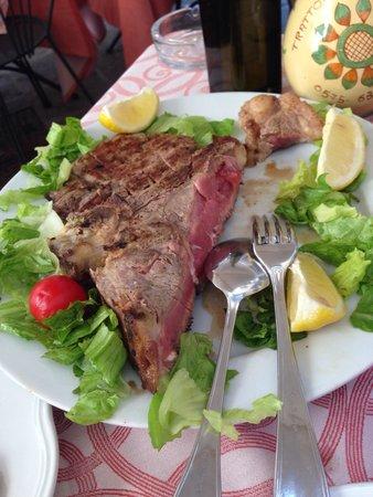 Trattoria La Grotta : 1,2 kg fiorentina