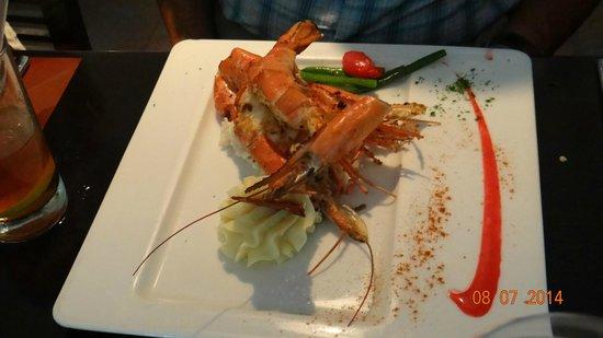 Hotel Marina El Cid Spa & Beach Resort: Prawns Dinner