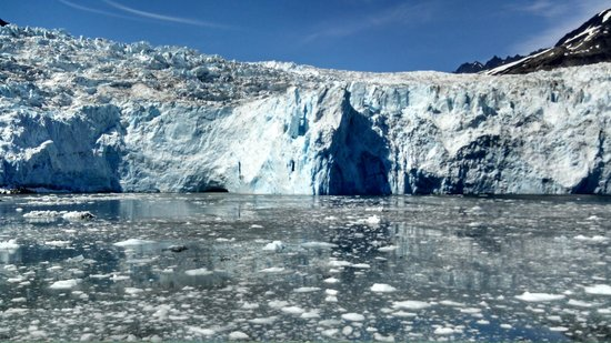 Calving of Holgate Glacier in Front