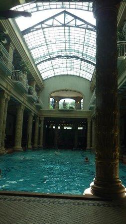Gellert Spa: The main pool.