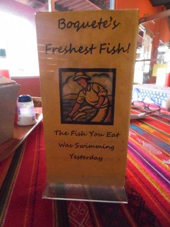 Big Daddy's Grill: Así es, el pescado de ayer