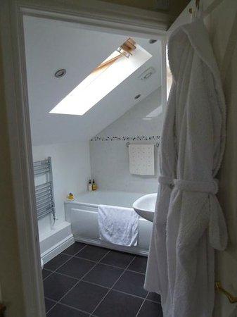 Pandy Isaf Country House Bed & Breakfast: We loved Room 1's bathroom skylight