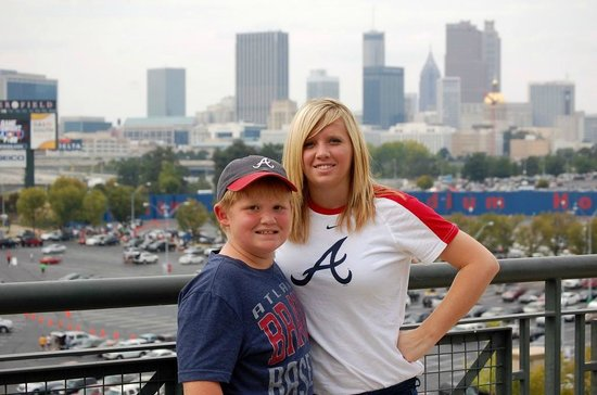 Turner Field: Top Level pictures - Atlanta Skyline in the background.