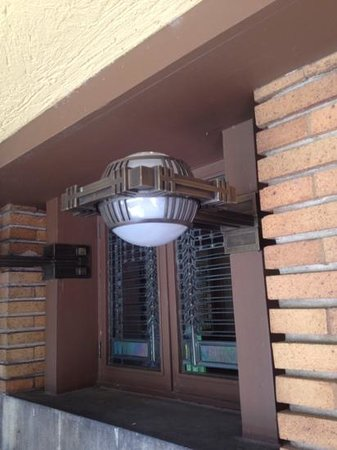 Frank Lloyd Wright's Darwin D. Martin House Complex : loved the windows and lighting fixtures