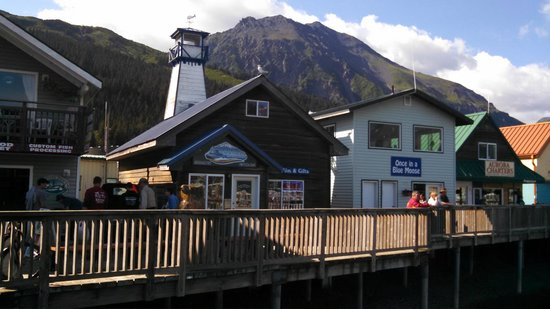 Mt Marathon & Faux Lighthouse from Seward Boat Harbor