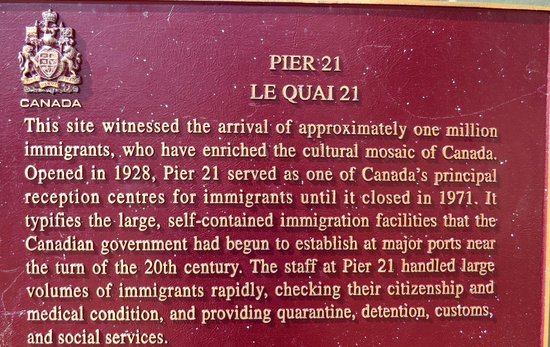 Canadian Museum of Immigration at Pier 21: Historical information