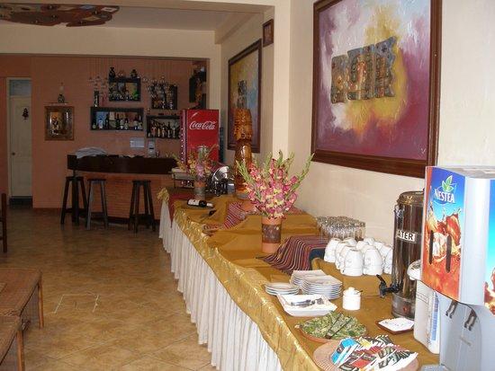 Taypikala Hotel Machupicchu: Resturant buffet/lobb bar