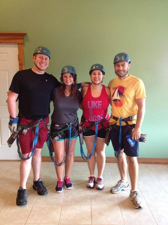 Zip Line USA : Before the tour, ready to go!