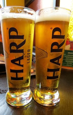 The Old Triangle Irish Ale House : Harp Lager!