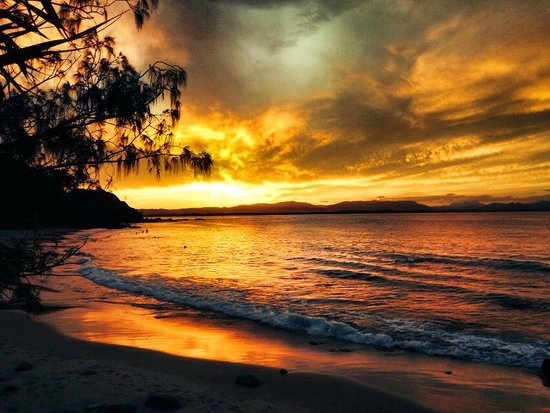 Cape Byron YHA : Wategos beach sunset!