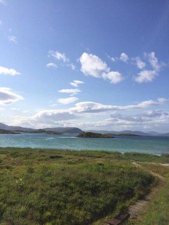 Sommaroy Arctic Hotel Tromso: Utsikt från stugorna
