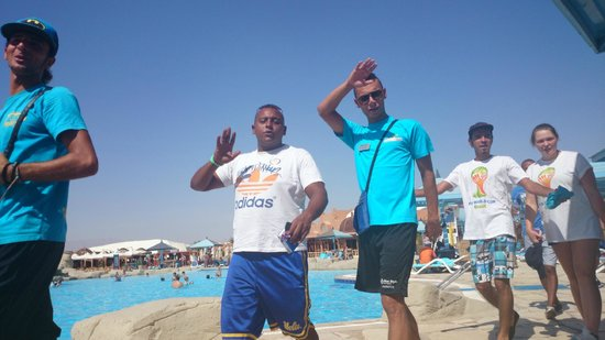 SUNRISE Select Royal Makadi Resort: mezo and another boy from animation team