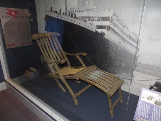 Maritime Museum of the Atlantic : Genuine Article (and extremely rare) Titanic Deck Chair