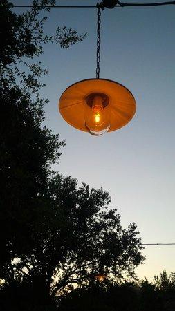 Mas d'Augustine : Bistro night.  Lovely evening light.