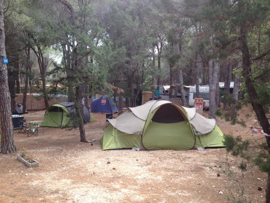 Camping Cala Gonone: Zona tende