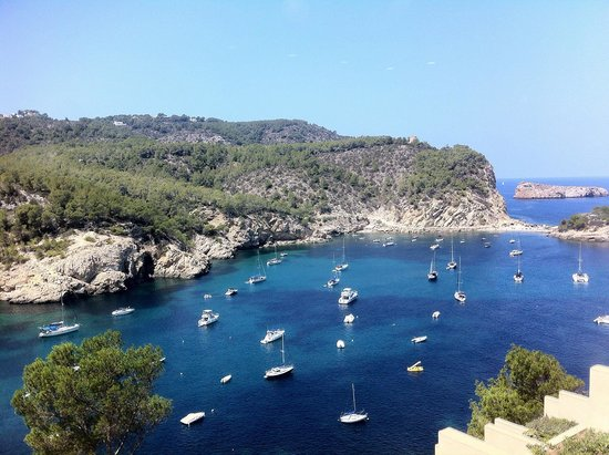 Hotel Ole Galeon Ibiza : Vista dalla terrazza del bar della piscina, terzo piano