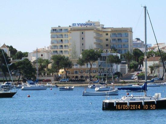 OLA Hotel El Vistamar: Hotel viewed from harbour