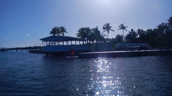 Casa Morada: a look back at the resort as we head out on the paddle boards