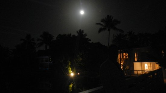 Casa Morada: a view of the resort under the glow of the full moon