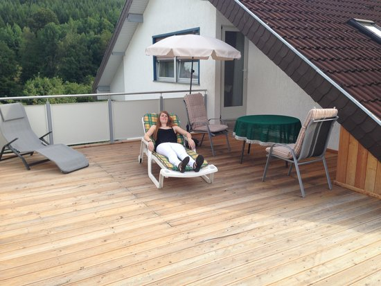 Burgwallbach, Alemanha: Balkon Zimmer 5