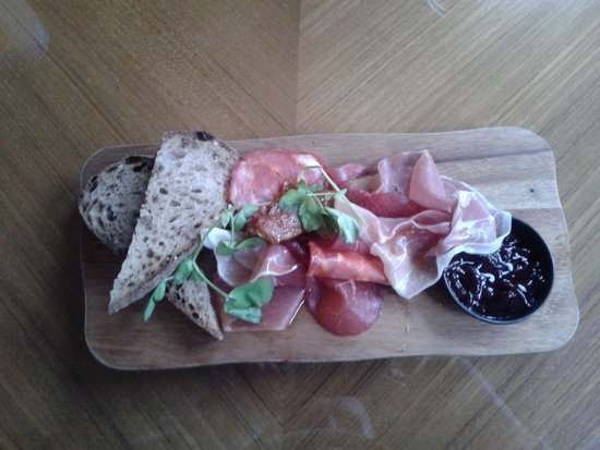 The Pinnacle: Cured meats beautifully presented.