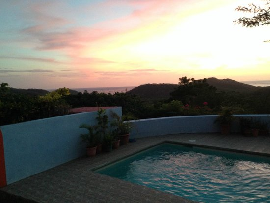 El Jardin Hotel : Sunset from the deck