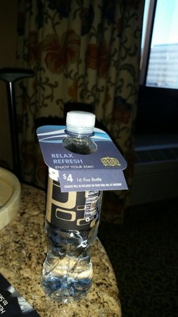 Golden Nugget Hotel: $4 for one 500ml bottle of water.