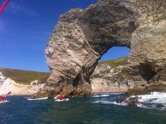 Jurassic Coast Activities: Kayaking through Durdle Door