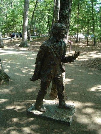 Walden Pond State Reservation : Henry D Thoreau Statue 8/8/2014