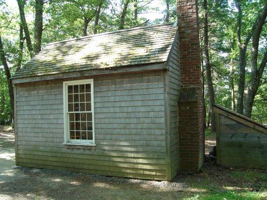 Walden Pond State Reservation : Replica Cabin at Walden Pond 8/8/2014