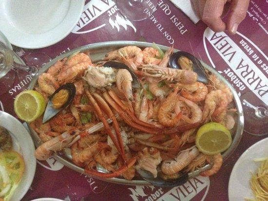 La Parra Vieja: Seafood platter for 2 @ 20€