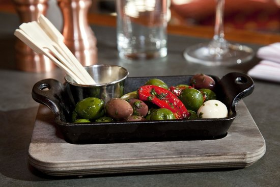 The Overlook: House-marinated Olives