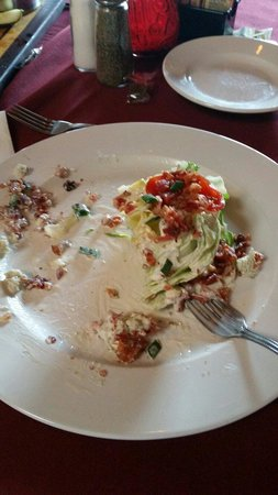 A Fork and Knife: Wedge salad