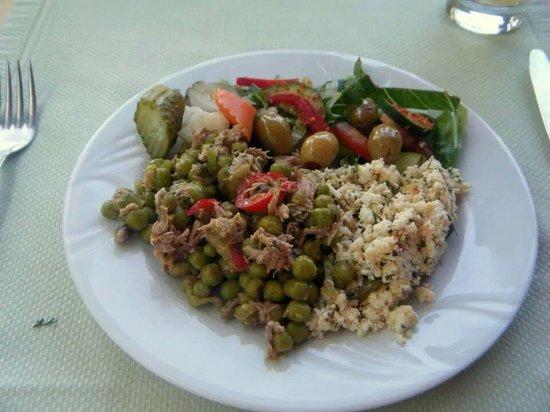 Club Nimara Beach Resort: one of my lunches!