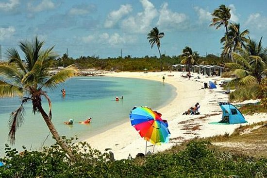 Bahia Honda State Park and Beach: Bay side beach..