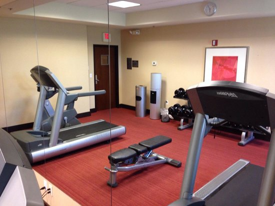 Hyatt Place Topeka: Well equipped fitness room at the Topeka Hyatt Place. Photo by Terry Hunefeld.
