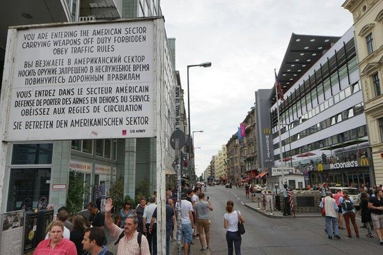 Checkpoint Charlie: you won't experience much more than what you just felt looking at this photo. Notice how McDonal